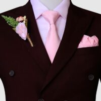 Maroon Double Breasted Suit 2