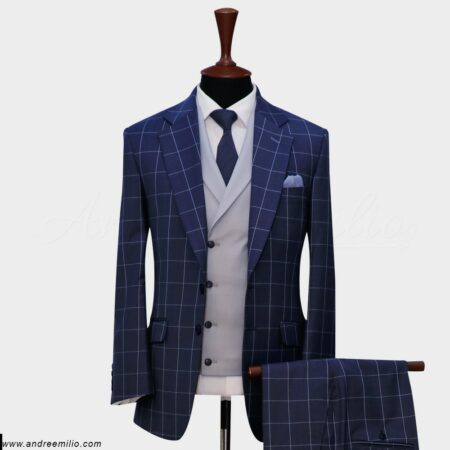 Windowpane Check Suit