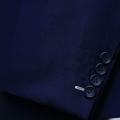 Navy Blue Pick Stitch 3 Piece Suit 3