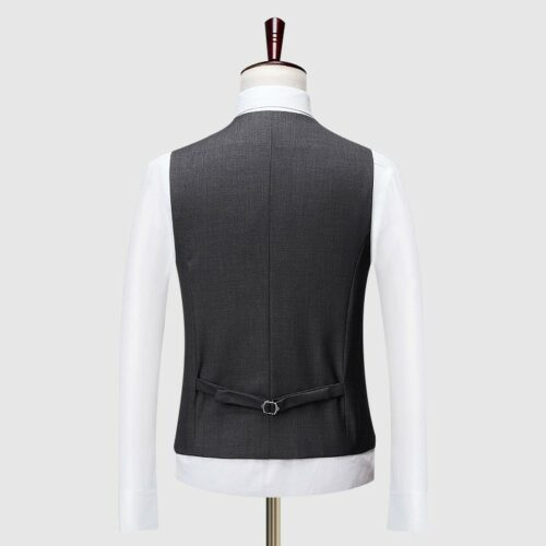 Dark Grey Vest Back