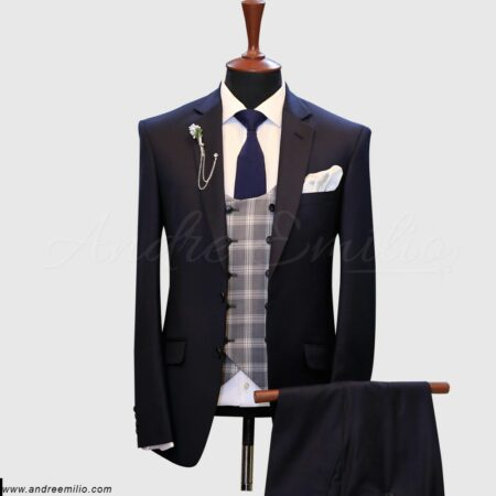 Purplish Blue 3 Piece Suit