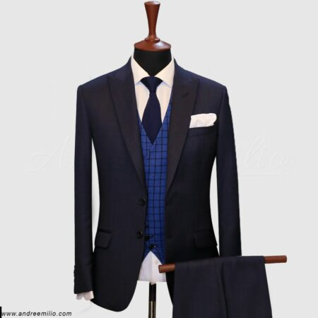 Solid Purplish Blue 3 Piece Suit