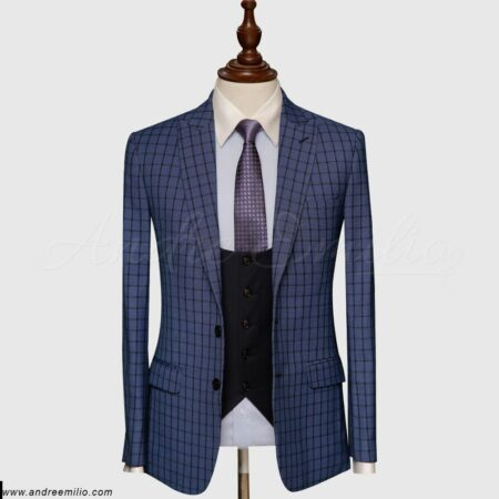 Blue Check 3 Piece Suit