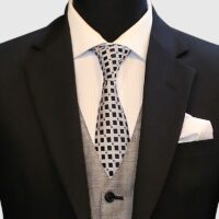 Regular-fit Classic Black 3 Piece Suit 3