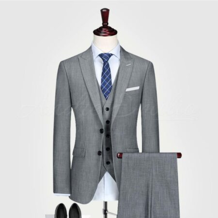 Grey Texture 3 Piece Sui