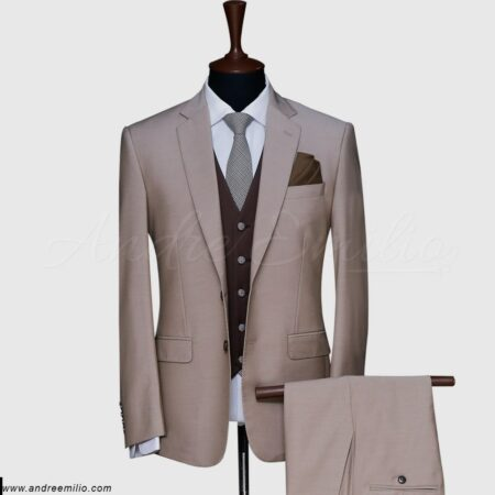 Light Brown 3 Piece Suit