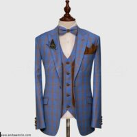 Blue Glen Checked Suit 1