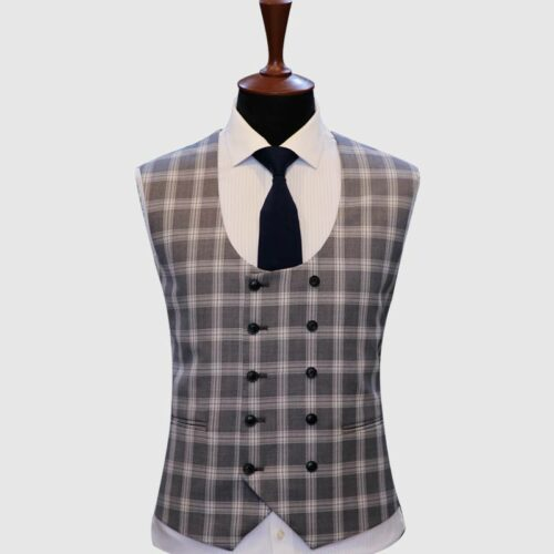 Grey Galen Checked Vest (1)