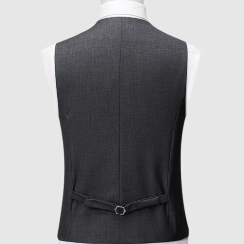 Grey Galen Checked Vest (2)