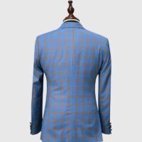 Blue Glen Checked Suit 2