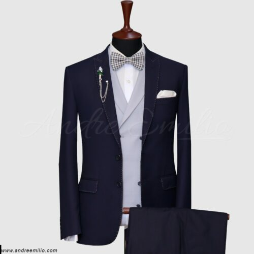 Dark Blue 3 Piece Suit