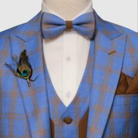 Blue Glen Checked Suit 8