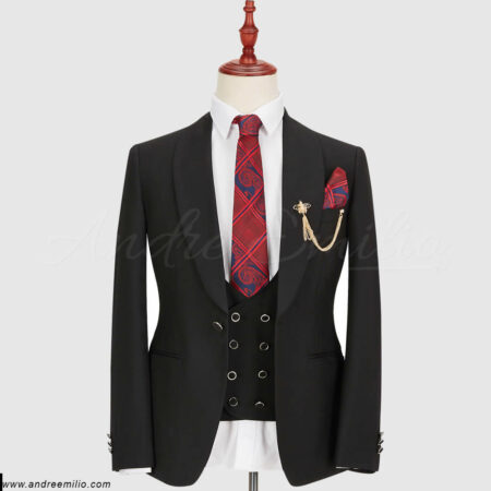 Luxury Black 3 Piece Suit