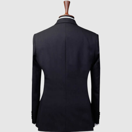 Navy Blue 3 Piece Suit Back