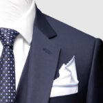 Navy Blue 3 Piece Suit Lapel