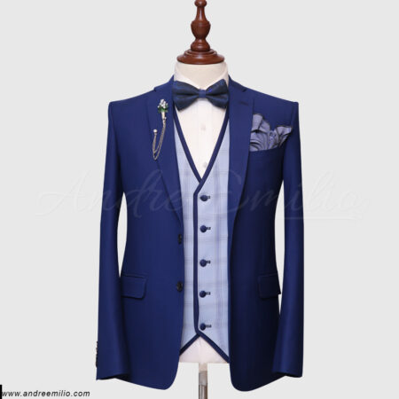 Royal Blue 3 Piece Suit