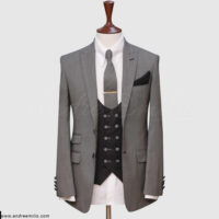 Grey Pinpoint 3 Piece Suit 1