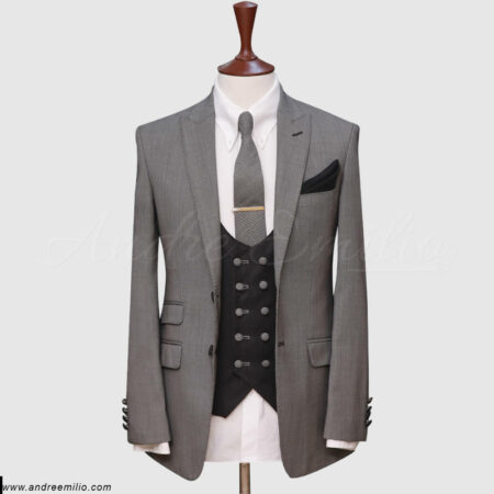 Grey Pinpoint 3 Piece Suit