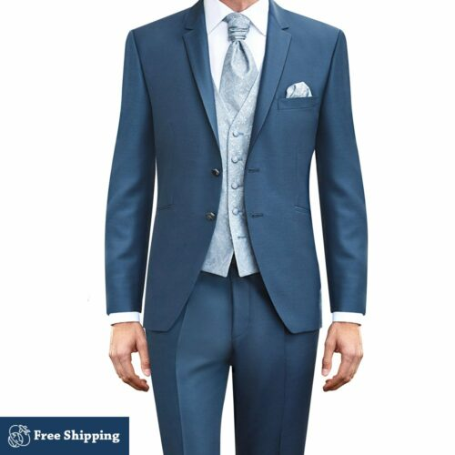 Teal Blue 3 Piece Suit
