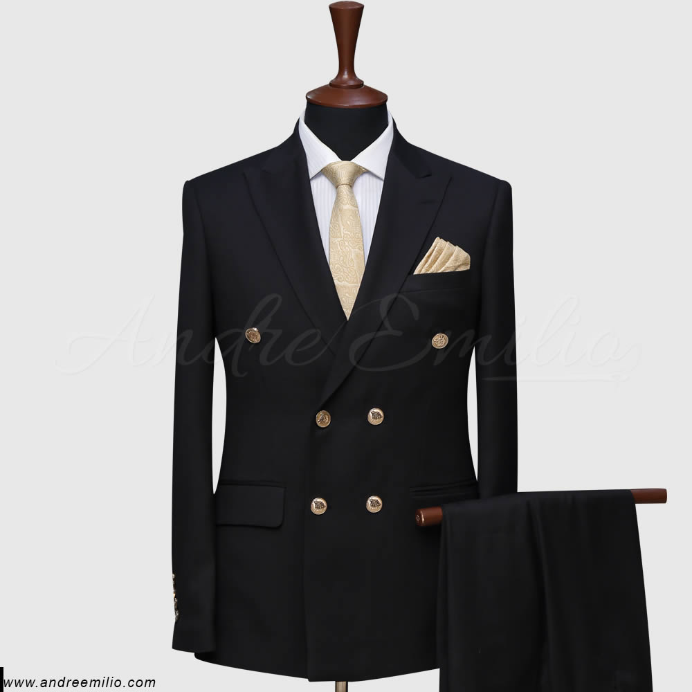 Black Double Breast Suit