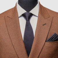 Brown Double Breasted Suit 2