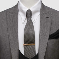 Grey Pinpoint 3 Piece Suit 2