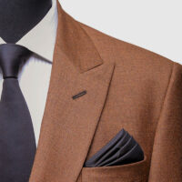 Brown Double Breasted Suit 3