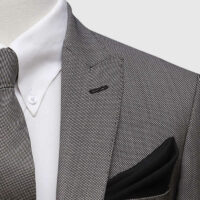 Grey Pinpoint 3 Piece Suit 3