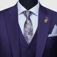 Plum 3 Piece Suit 3