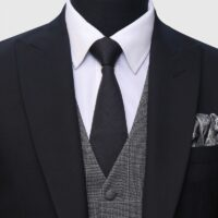 3 Piece Black and Gray Suit 2