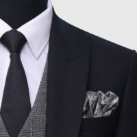 3 Piece Black and Gray Suit 3