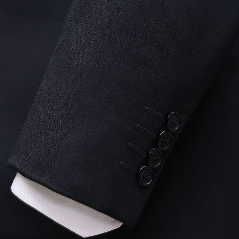 3 Piece Black And Gray Suit Sleeves