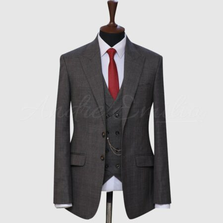 3 Piece Dark Gray Suit