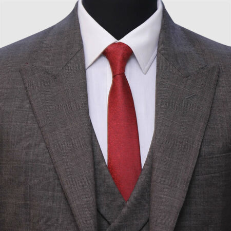 3 Piece Dark Gray Suit Closeup