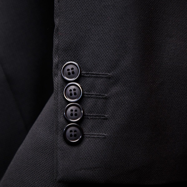 Black And Gray 3 Piece Suit Sleeve