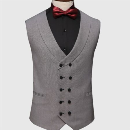 Black And Gray 3 Piece Suit Vest