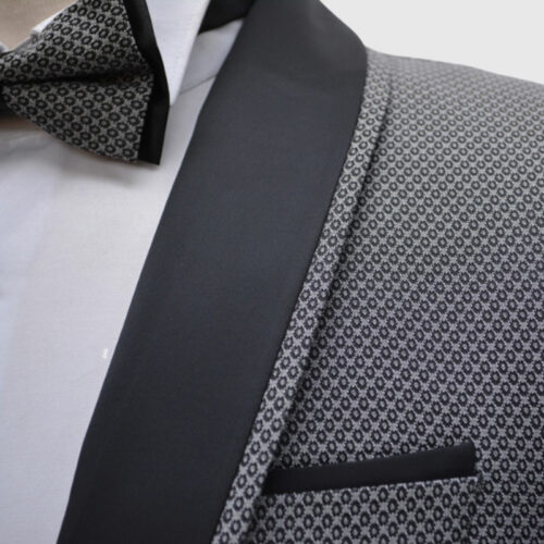 Dotted Gray Tuxedo Wedding Suit