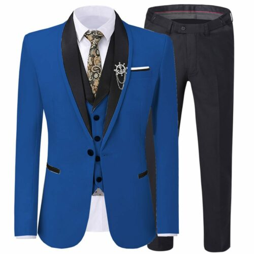 Navy Blue Wedding Tuxedo Suit