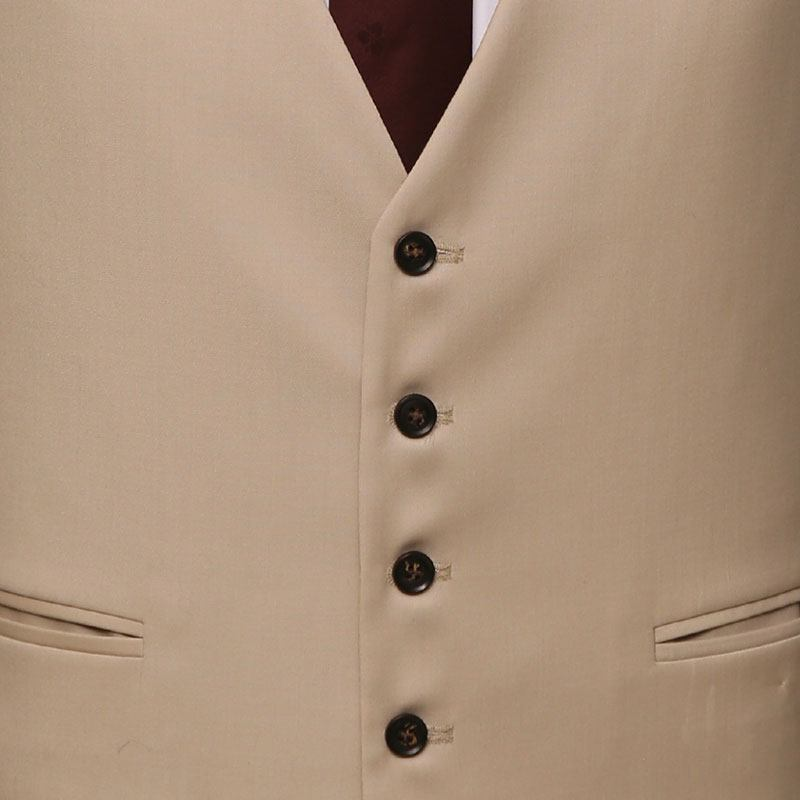 Premium Fine Cream 3 Piece Suit Vest Buttons