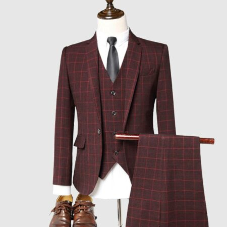 Tailor Fit Maroon Suit