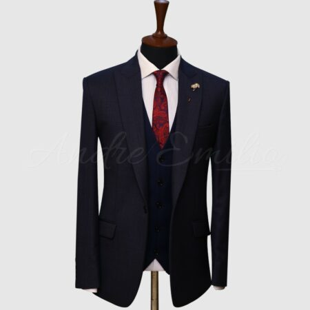 3 Piece Dark Blue Suit