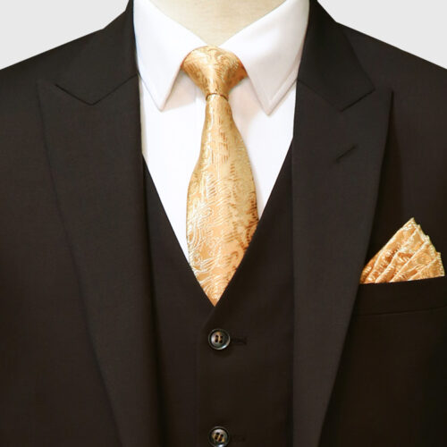Dark Brown 3 Piece Suit Front