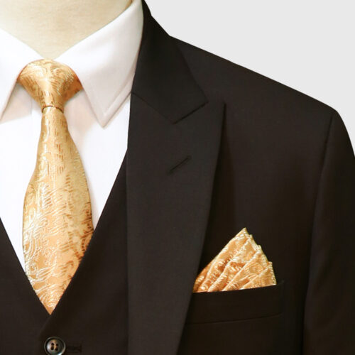 Dark Brown 3 Piece Suit Lapel