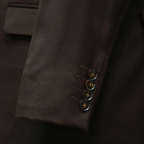 Dark Brown 3 Piece Suit Sleeves
