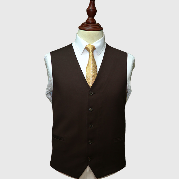 Dark Brown 3 Piece Suit Vest