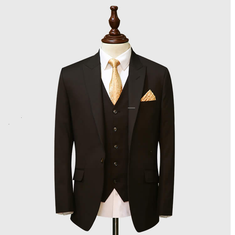 Dark Brown 3 Piece Suit