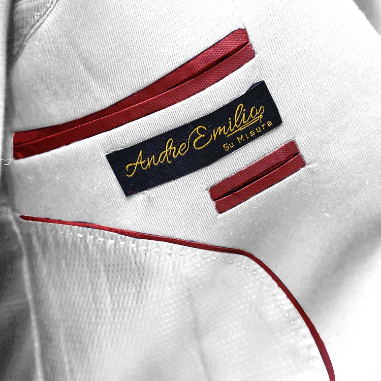 Double Breast White Suit Inner Jacket